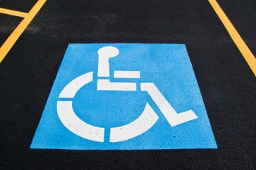 Marl Coatings' disabled bay using acrylic line marking paint