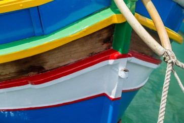 Barge painted with above sea level marine coatings